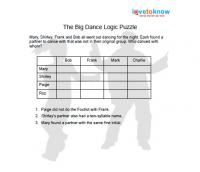 The big dance logic puzzle