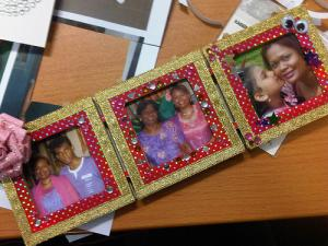 Homemade kids picture frame