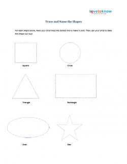 Preschool printable on shapes