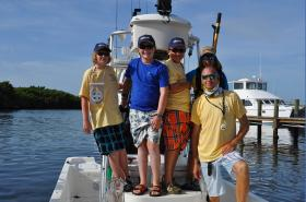 Kids at Florida Fantasy Fishing Camp