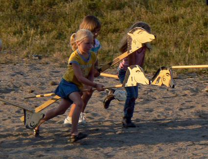 Stick Horse Racing