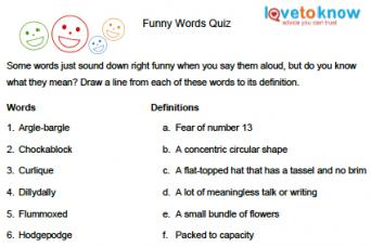 printable quizzes for children lovetoknow