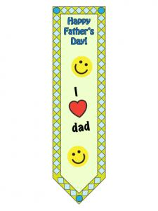 Fathers Day Bookmark color