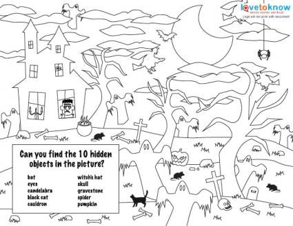 haunted house coloring page and