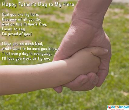 Fathers Day Poems from Child