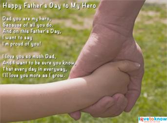 Father's Day Poems From Children | LoveToKnow