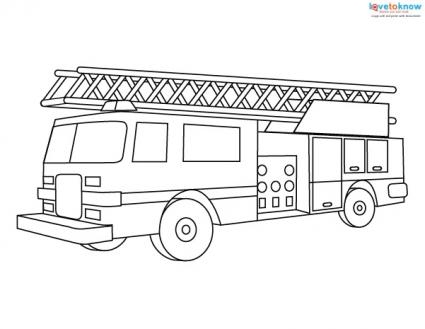 Fire Engine Coloring Pages | LoveToKnow