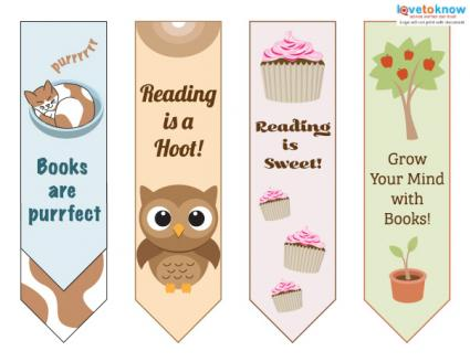 image relating to Cute Printable Bookmarks called Printable Bookmarks for Youngsters LoveToKnow
