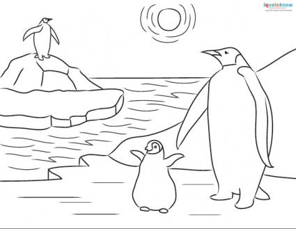 Printable Penguin Coloring Sheets And Facts For Kids Lovetoknow Penguin Coloring Pages