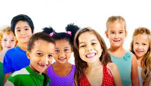 kids smiling at camera