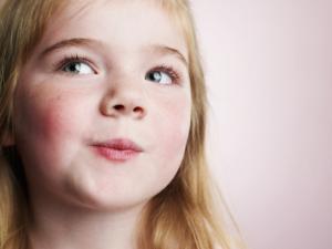 smirking little girl