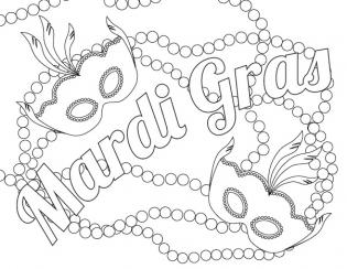 Mardi Gras Coloring Pages Free To Print