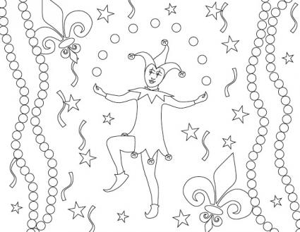 Mardi Gras Coloring Pages Coloring Copies