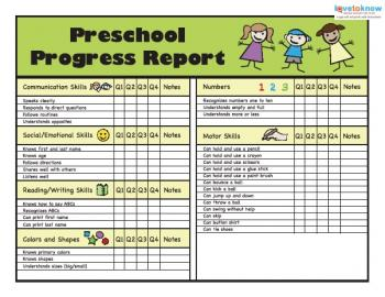 Printable preschool progress reports preschool progress reports 2 thumb altavistaventures Image collections