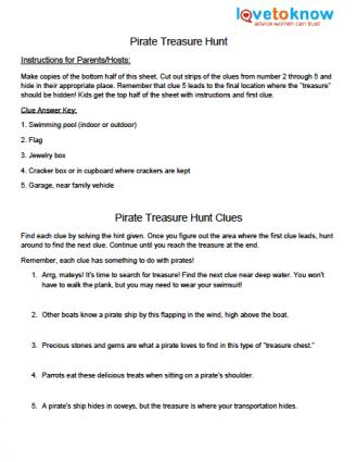 graphic about Clue Sheets Printable named Cost-free Printable Treasure Hunt Clue Sheets LoveToKnow
