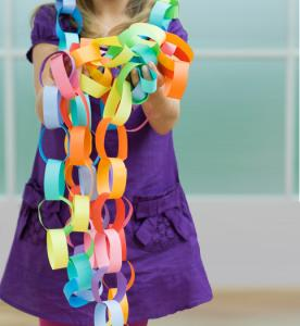 Girl with a paper chain