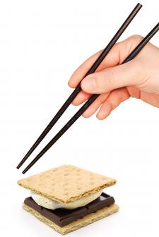chopsticks and building smores