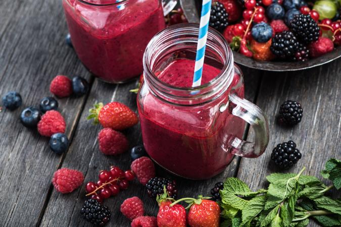 Summer berries smoothie