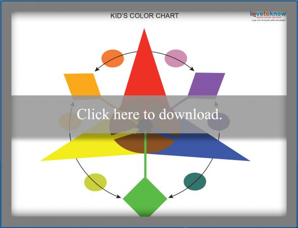 Printable Color Wheel Chart For Kids Lovetoknow