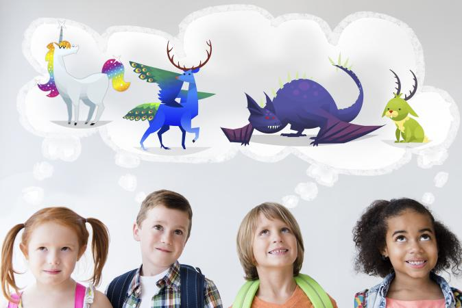 kids dreaming of mythical pets