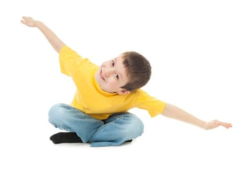 boy simulating flight