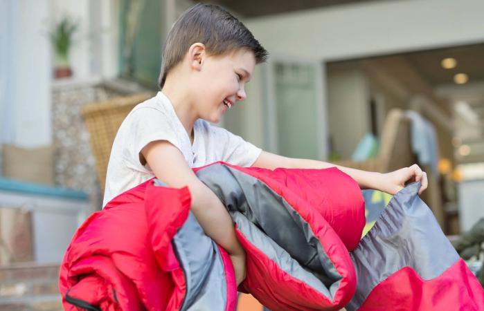 Kid Packing for Summer Camp