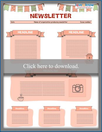 photograph regarding Printable Newsletter Template named No cost Editable Little ones Publication Templates LoveToKnow