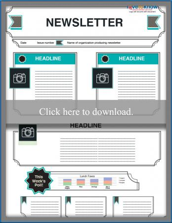 picture regarding Printable Newsletter Template identified as Totally free Editable Youngsters Publication Templates LoveToKnow