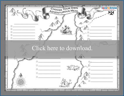 Uncolored Map Theme Kids' Menu