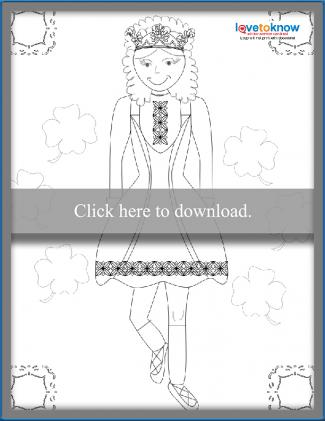 Irish step dancer coloring sheet