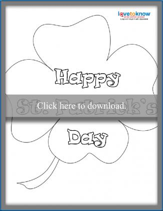 Four leaf clover coloring sheet