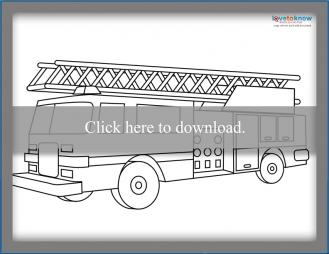 Traditional Fire Truck Coloring Page