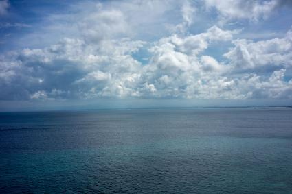 Ocean water and sky