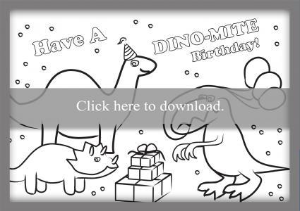 Click To Print The Dinosaur Card