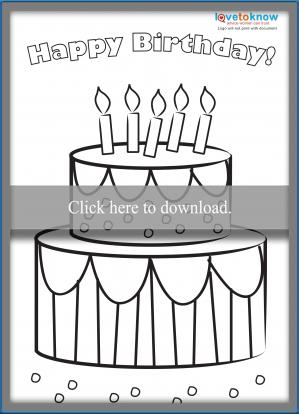Click to print the cake card.