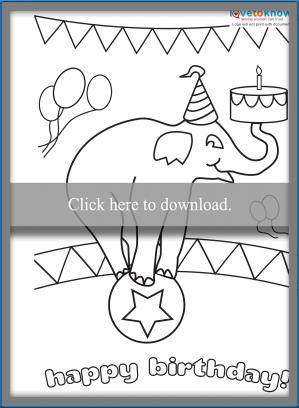 Click To Print The Circus Card