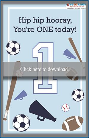Sports theme birthday card
