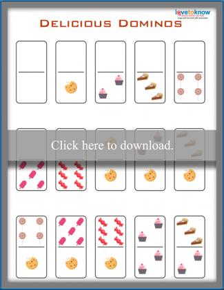 Printable Delicious Dominos game