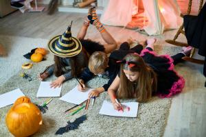Kids coloring Halloween printables