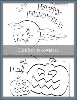 Happy Halloween Coloring Card