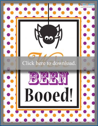 Halloween boo spider sign