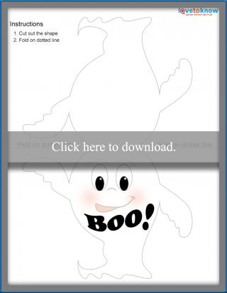 Ghost Halloween card