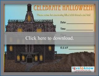 Celebrate Halloween party invitation