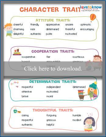 teaching character traits to kids lovetoknow