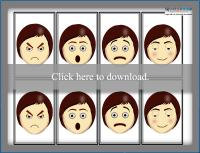 Printable Facial Expressions memory game