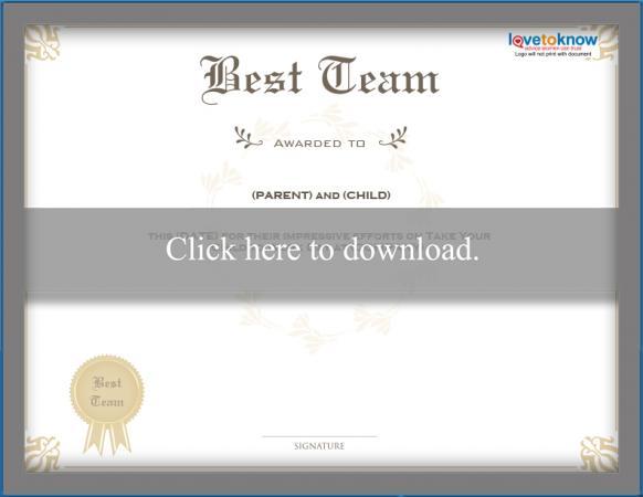 best team certificate