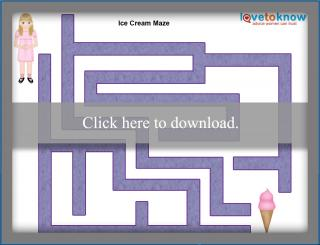 ice cream maze printable