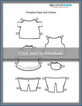 printable paper doll clothes for girl