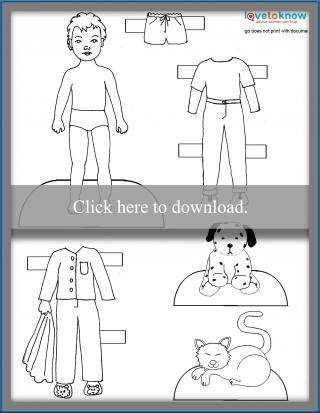 printable boy doll and clothes