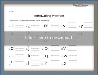 Handwriting Practice Printable
